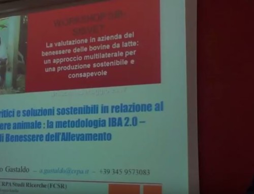 WORKSHOP SIB-SISVET BENESSERE Brescia 25 maggio 2017: Alessandro Gastaldo – CRPA