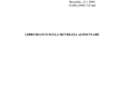 Libro bianco sulla sicurezza alimentare