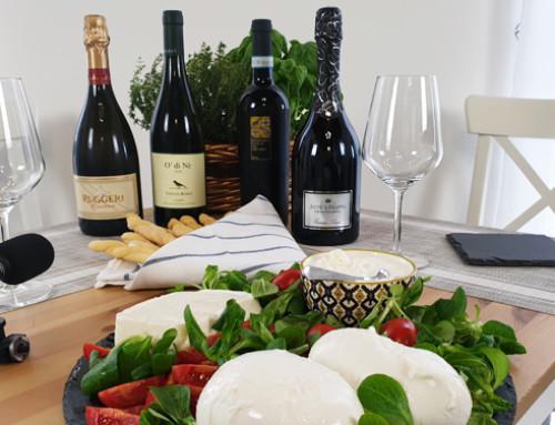 Quando il formaggio incontra il vino – Parola d'ordine: formaggio fresco. Gli abbinamenti con i prodotti di Latte Marini